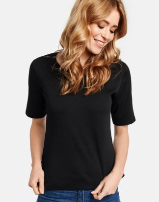 1/2 Arm Basic Shirt Schwarz 36/S