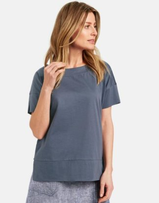 1/2 Arm Shirt aus Baumwolle Blau 36/S