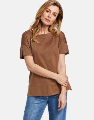 1/2 Arm Shirt aus Baumwolle Braun 36/S