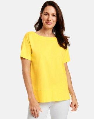 1/2 Arm Shirt aus Baumwolle Gelb 36/S