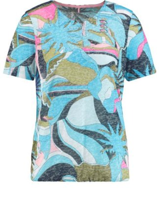 1/2 Arm Shirt mit Camouflage Muster Mehrfarbig 36/S