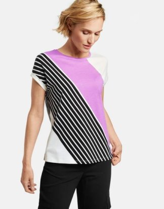 1/2 Arm Shirt mit Diagonalpatch Mehrfarbig 38/S