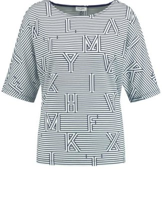 1/2 Arm Shirt mit Mustermix Blau 36/S