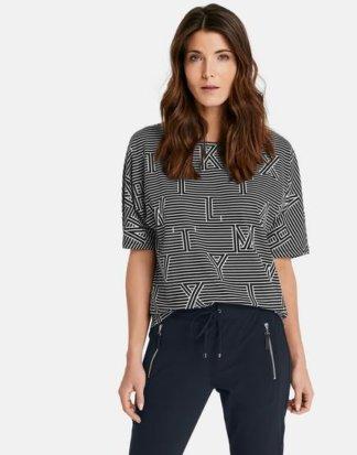 1/2 Arm Shirt mit Mustermix Schwarz 36/S