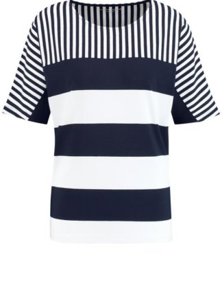1/2 Arm Shirt mit Streifenmix Blau 36/S