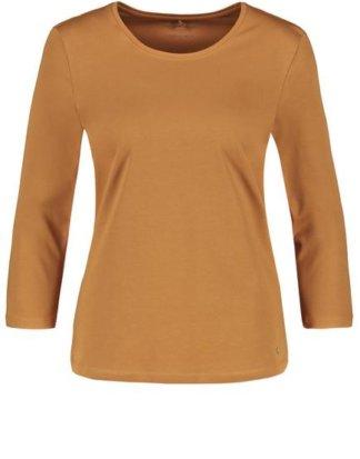 3/4 Arm Basic Shirt Braun 36/S