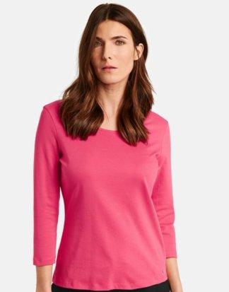 3/4 Arm Basic Shirt Pink 40/M