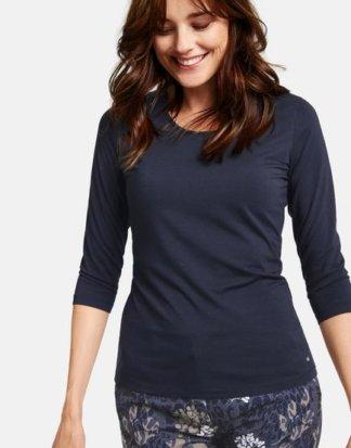 3/4 Arm Shirt Basic Blau 38/S Mindestbestellwert von 29 € erforderlich
