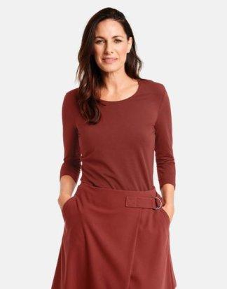 3/4 Arm Shirt Basic Rot 38/S Mindestbestellwert von 29 € erforderlich