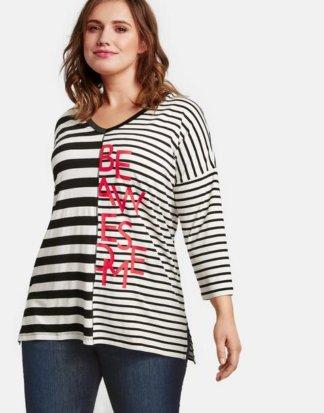 3/4 Arm Shirt im Streifen-Design Mehrfarbig 44/L