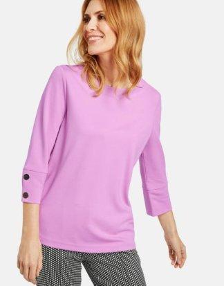 3/4 Arm Shirt mit Zierknöpfen Pink 36/S