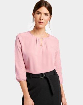 3/4 Arm Shirt mit eingelegten Falten Pink 36/S