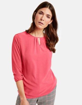 3/4 Arm Shirt mit eingelegten Falten Pink 38/S