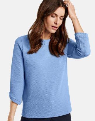 3/4 Arm Shirt mit großem Ausschnitt Blau 36/S