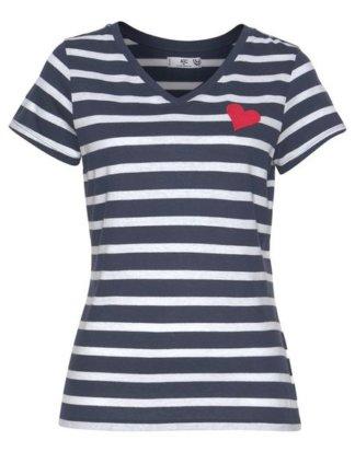 AJC T-Shirt mit Herzchen-Stickerei