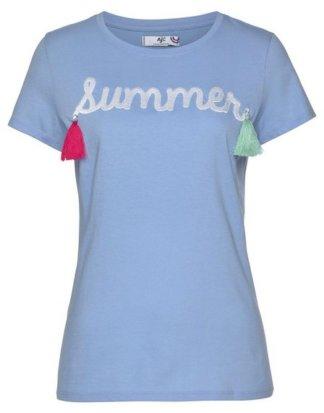 AJC T-Shirt mit Sommer-Stickerei & Quasten