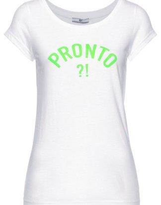 AJC T-Shirt mit Statement-Print in Neonfarbe