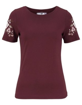 AJC T-Shirt mit Stickerei auf den Ärmeln