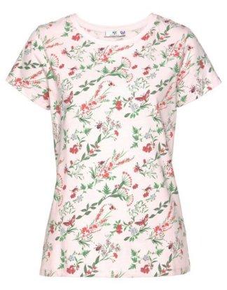 AJC T-Shirt mit filigranem Blumendruck