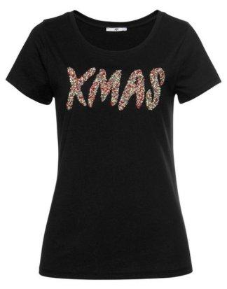 AJC T-Shirt mit glitzernder Weihnachtsapplikation