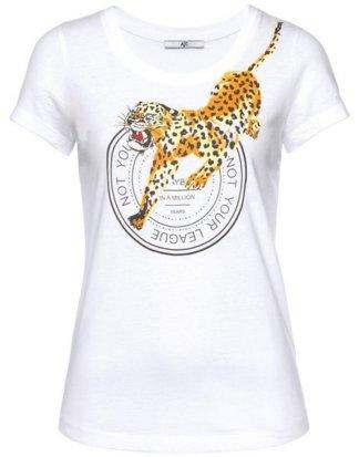 AJC T-Shirt mit großem Leoparden-Frontprint