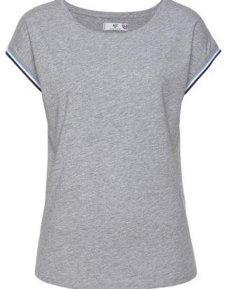 AJC T-Shirt mit kontrastfarbenem Rippbündchen