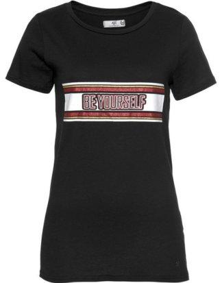 AJC T-Shirt mit stylischem Glitzer-Statement-Print