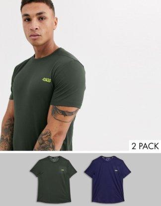 ASOS 4505 - 2er-Set schnelltrocknende Trainings-T-Shirts, RABATT-Mehrfarbig