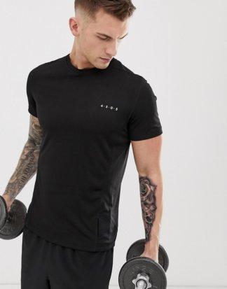 ASOS 4505 - Schnell trocknendes Sport-Shirt in Schwarz
