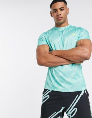ASOS 4505 - Training - Bedrucktes T-Shirt-Blau