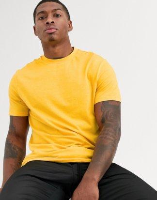 ASOS DESIGN - Gelbes T-Shirt aus Bio-Baumwolle mit Rundhalsausschnitt
