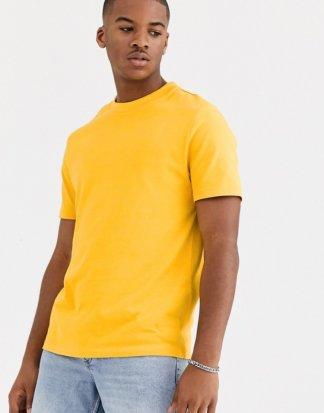 ASOS DESIGN - Gelbes, schweres Bio-T-Shirt mit Rundhalsausschnitt