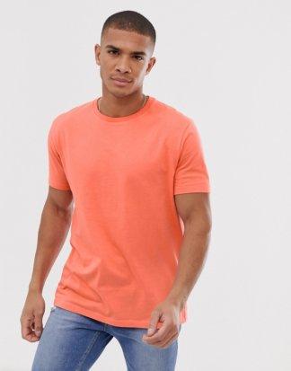 ASOS DESIGN - Lässiges T-Shirt mit Rundhalsausschnitt, in Orange