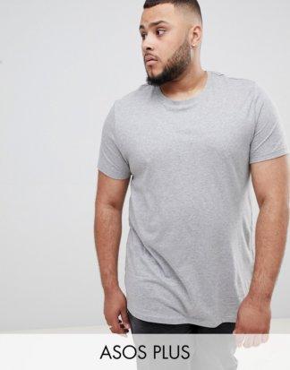 ASOS DESIGN Plus - Kalkgraues T-Shirt mit Rundhalsausschnitt