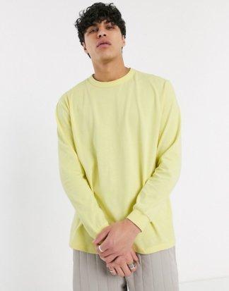 ASOS WHITE - Locker geschnittenes, langärmliges Shirt in Gelb