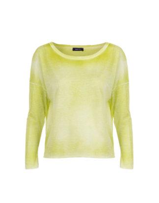 AVANT TOI Damen Baumwoll Shirt gelbgrün
