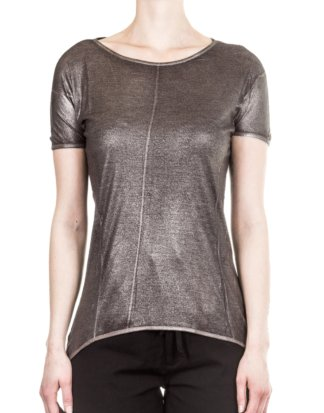 AVANT TOI Damen T-Shirt anthrazit gold