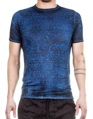 AVANT TOI Herren Leinen T-Shirt blau
