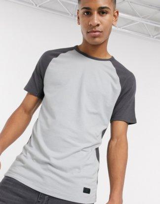 Abercrombie & Fitch - Athleisure-T-Shirt in Grau mit Rundhalsausschnitt