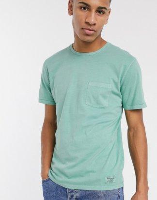 Abercrombie & Fitch - Grünes T-Shirt mit Rundhalsausschnitt und Logo