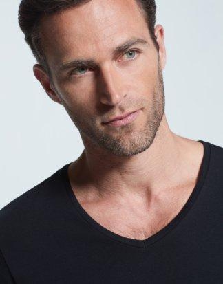 Active Cotton T-Shirt, schwarz