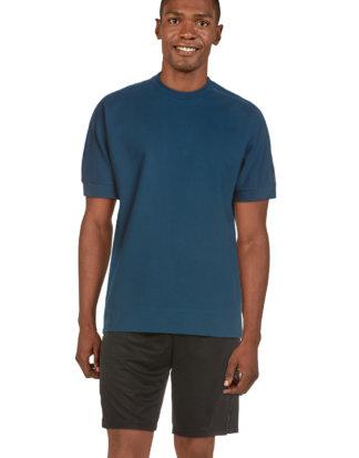 Adidas Athletic-Shirt, Rundhals, gerader Schnitt blau