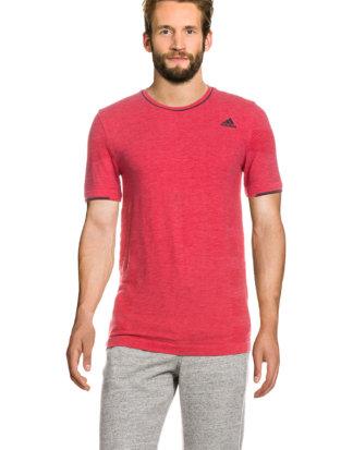 Adidas Running-Shirt Adistar, Kurzarm, Rundhals, Slim Fit rot