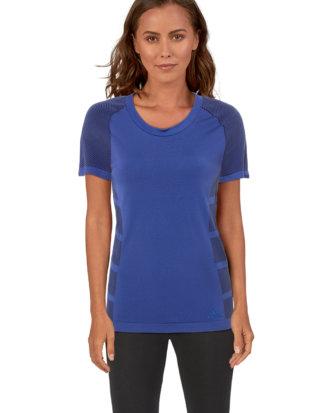Adidas Running-Shirt, Rundhals, gerader Schnitt blau