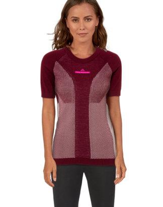 Adidas Running-Shirt, Rundhals, gerader Schnitt rot