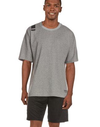 Adidas T-Shirt, Rundhals, gerader Schnitt grau