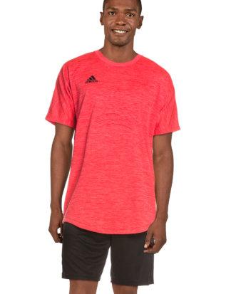 Adidas T-Shirt Tango, Rundhals, gerader Schnitt rosa