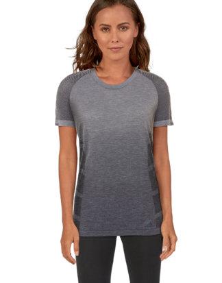 Adidas Trainings-Shirt, Rundhals, gerader Schnitt grau