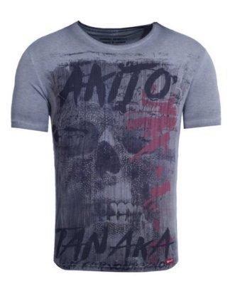 "Akito Tanaka Print-Shirt ""Fight for Skull"" mit Geisha Print"