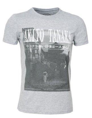 """Akito Tanaka Print-Shirt """"Geisha Area"""" mit Geisha Fotodruck"""